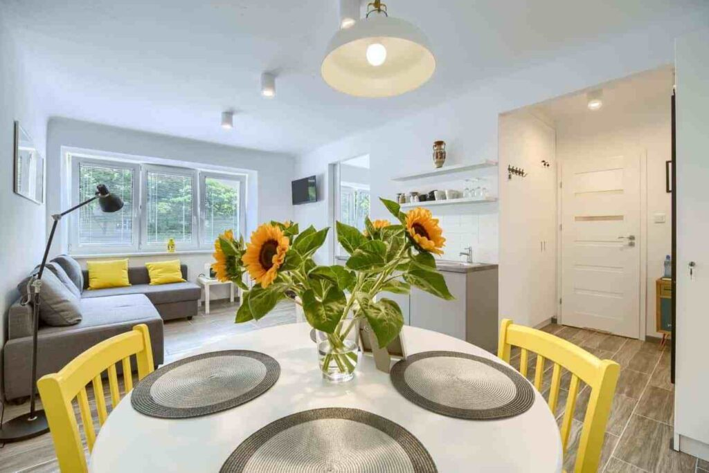 słoneczniki w kuchni